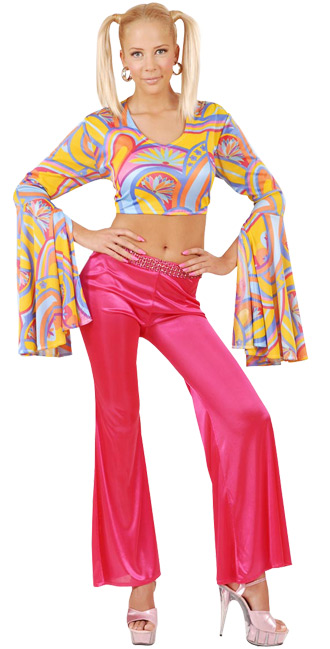 Disco Bellbottom Pants pink