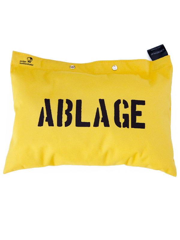 Office Sleep Cushion Ablage yellow