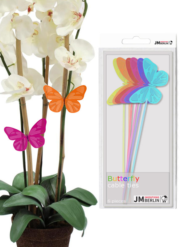 Butterfly Cable Ties Set multicoloured