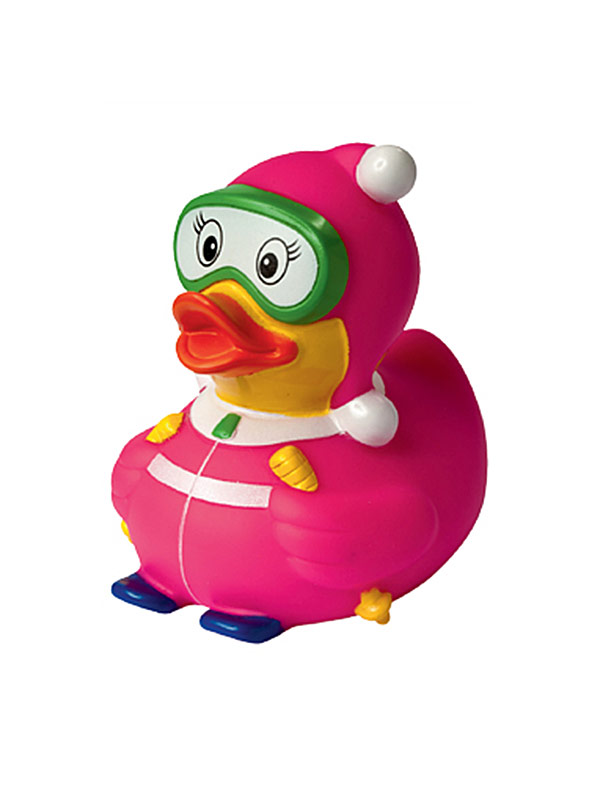 Rubber Duck Skier pink-yellow-white