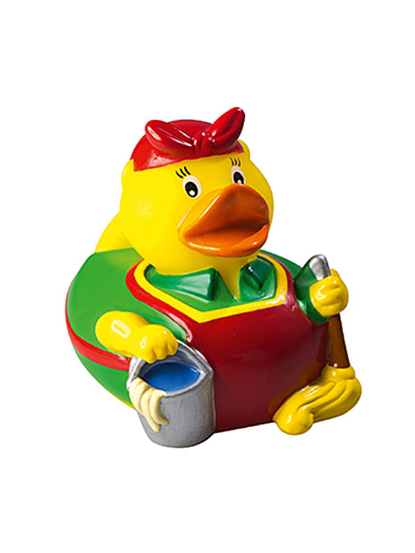 Rubber Duck Cleaning Lady yellow-multicoloured