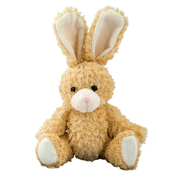 Plushie Rabbit with movable Legs light brown-white