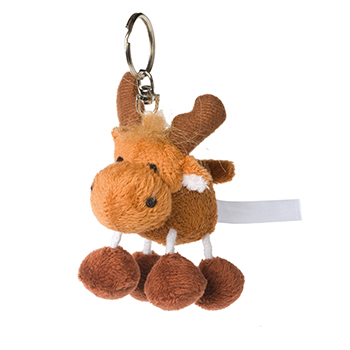 Key Chain Plushie Moose brown
