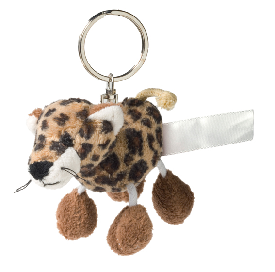 Key Chain Plushie Cheetah brown