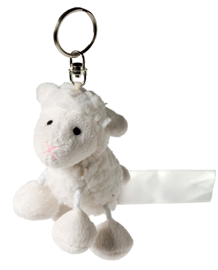 Key Chain Plushie Sheep white