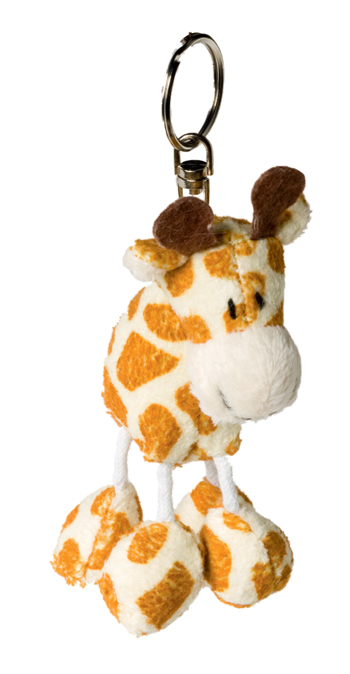 Key Chain Plushie Giraffe brown