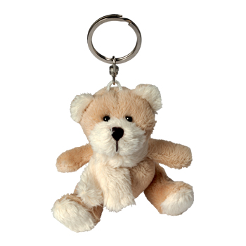 Key Chain Plushie Bear brown