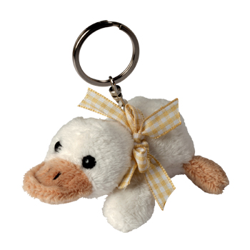 Key Chain Plushie Duck beige
