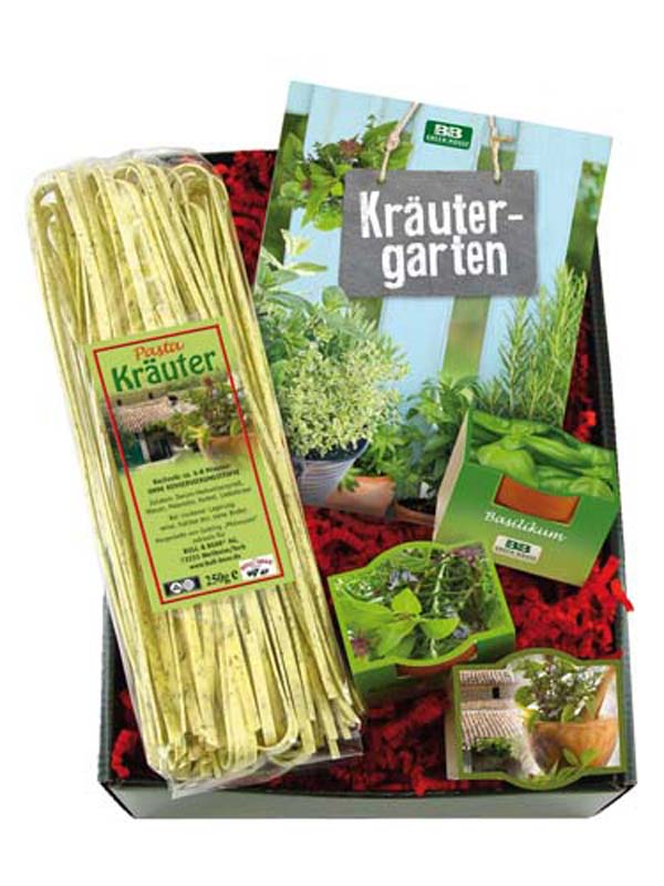 Gift Set Herbs with Cookbook Set of 5