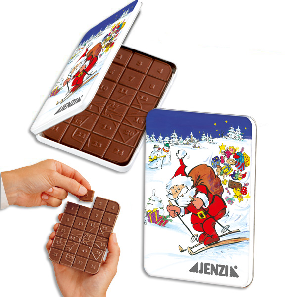 Advent Calendar Chocolate in Tin multicoloured 50g