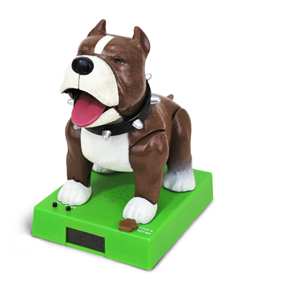 Rapping Dog Alarm Clock brown-white