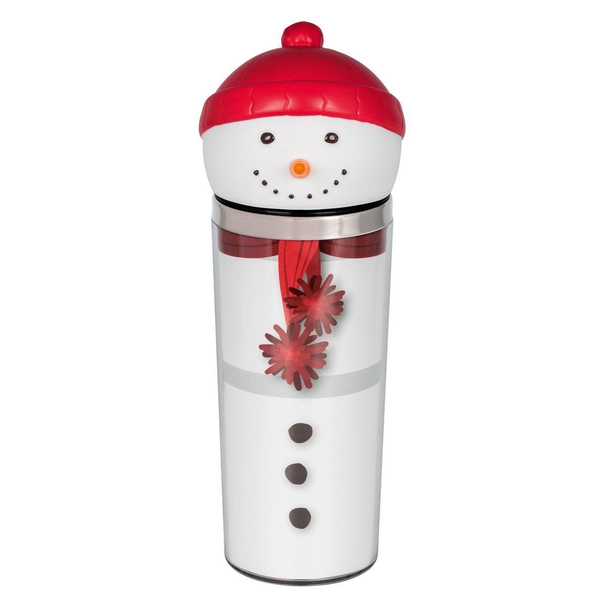 Thermo Mug Snowman white-red 360ml