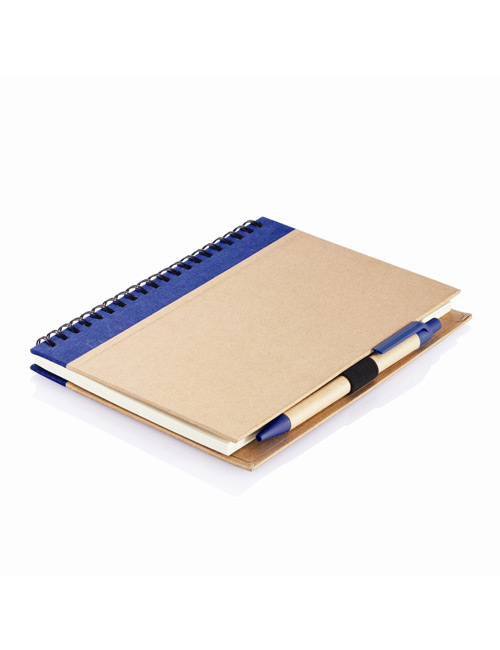 Eco Notebook with PLA Pen blue