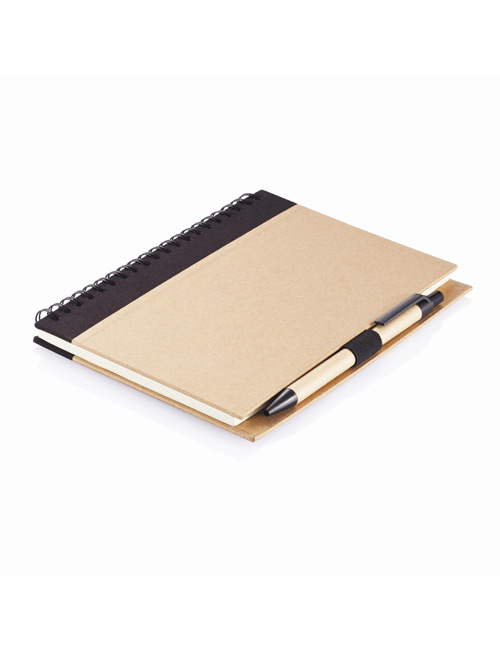 Eco Notebook with PLA Pen black