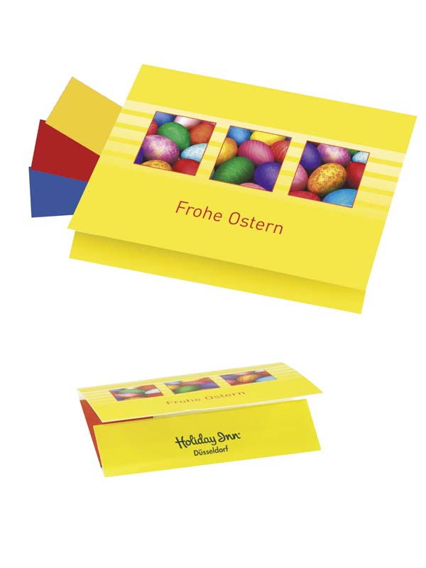 Folded Card with Egg Colours