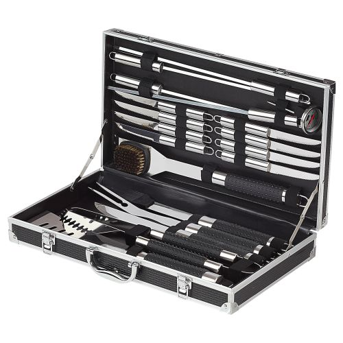Professional Barbecue Grill Set black-silver