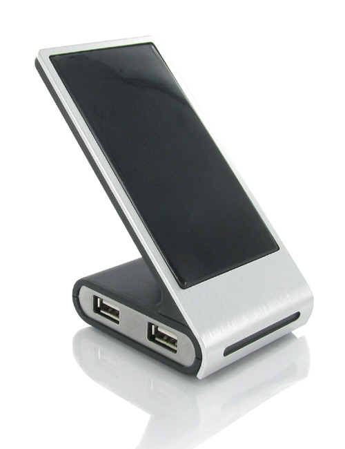 Mobile phone holder with USB Hub