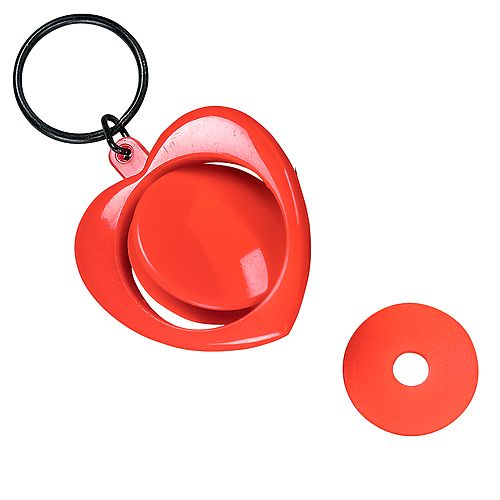 Keychain Heart Shape For Trolley Token red