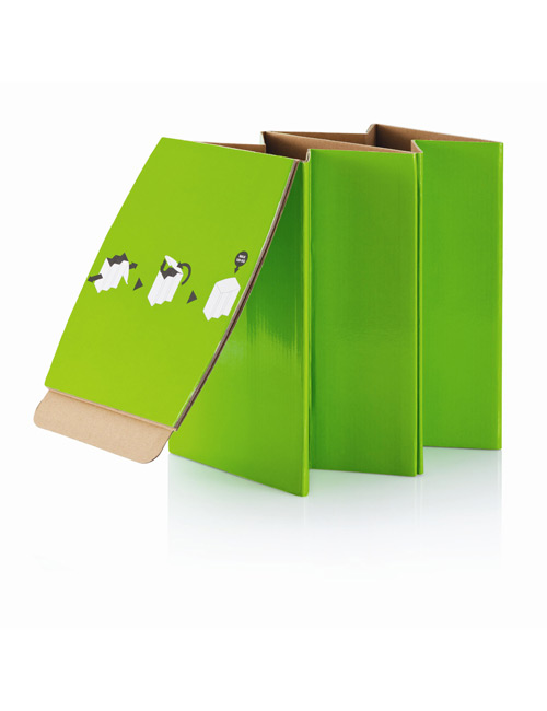 Foldable Cardboard Chair green