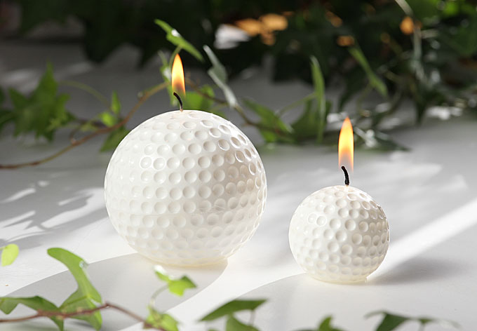 Golf Ball Candle big white