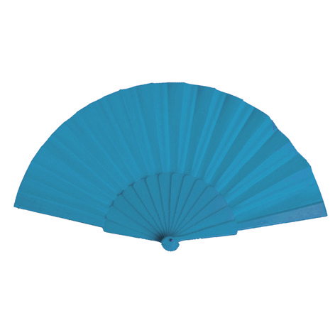 Plastic Fan, bright blue