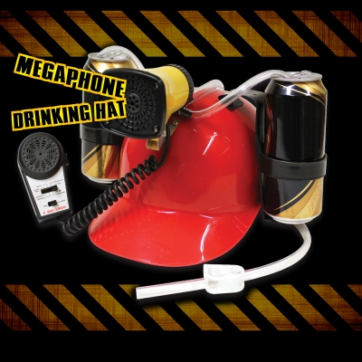 Drinking Helmet Beer Helmet Megaphone multicoloured