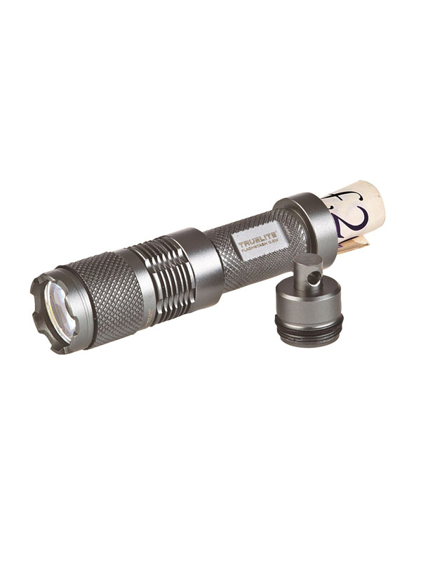 Mini Flashlight With Stash Keychain silver grey