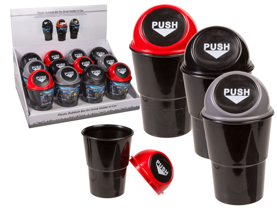 Trash Can for Car Cup Holders black
