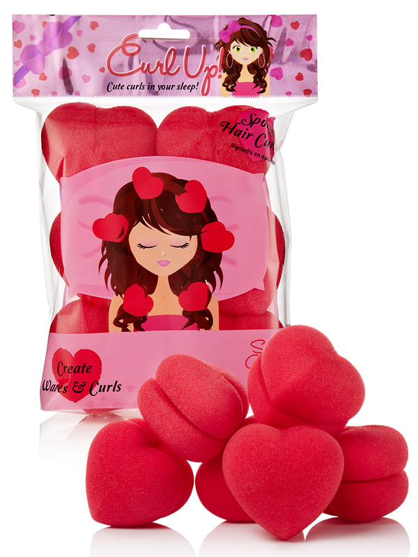 Curlers in Heart Shape