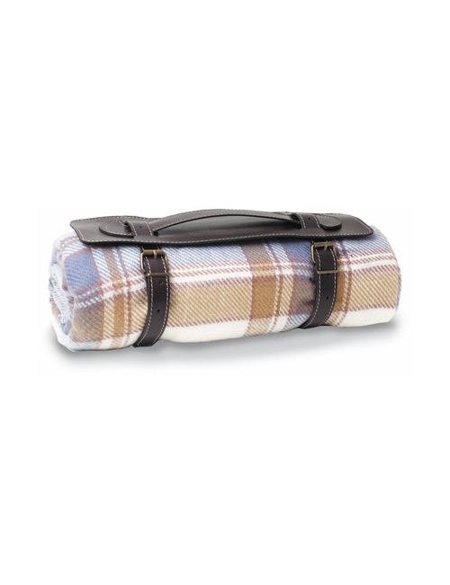 travel blanket brown beige