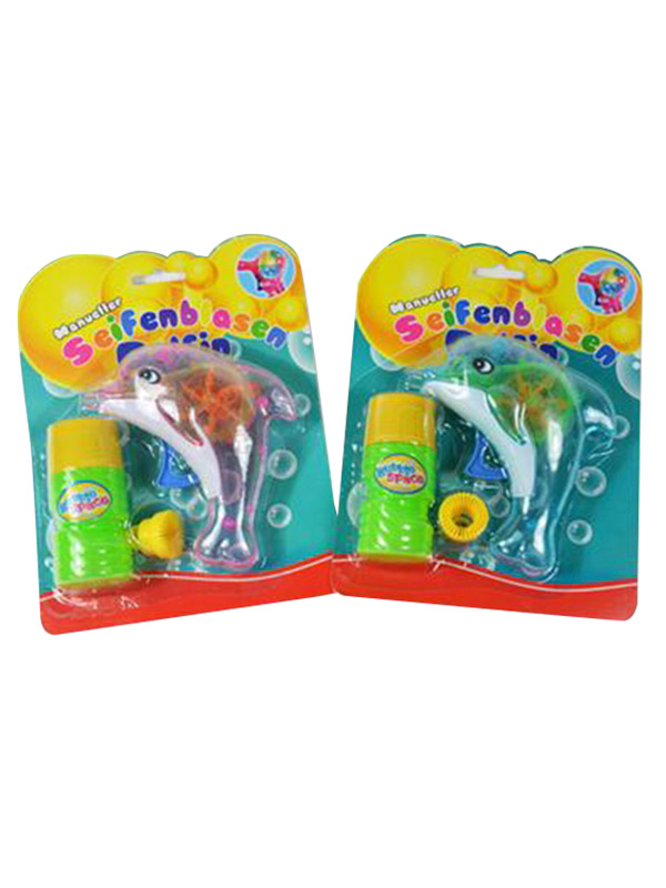 Soap Bubble Gun Dolphin with Light in two assorted colours