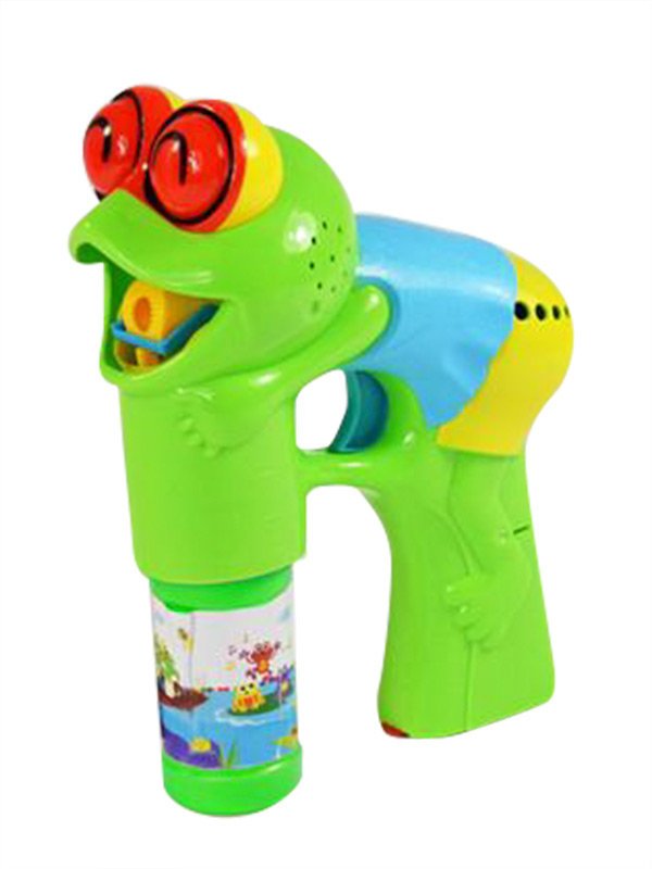 Soap Bubble Gun Frog with Light and Music multicoloured