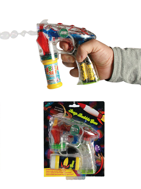 Soap Bubble Gun With Light and Sound 2 assorted colours
