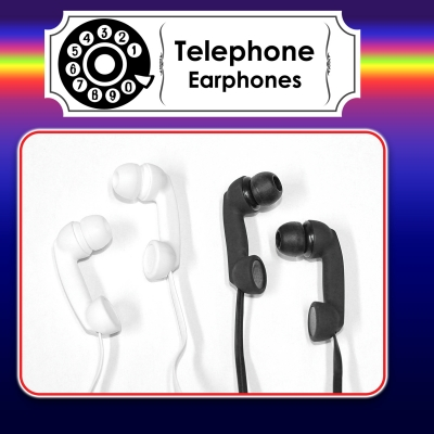 Earphones Telephone black