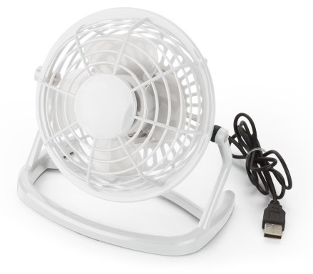 USB Table Fan Office Plastic white