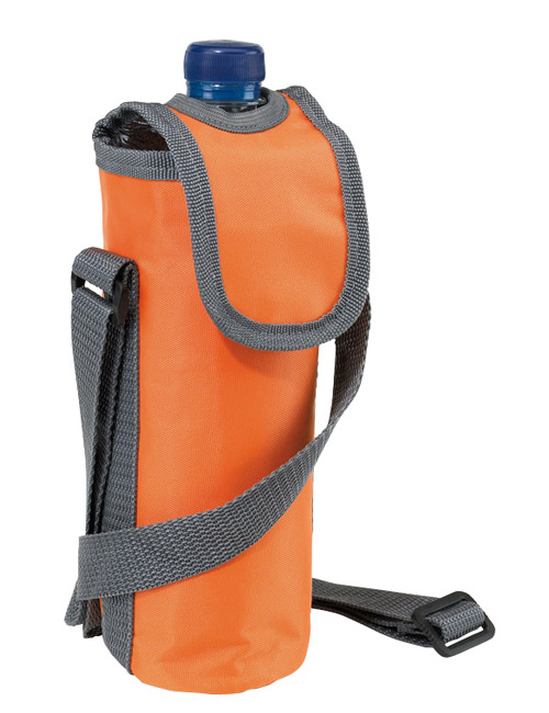 neck strap cool bag orange
