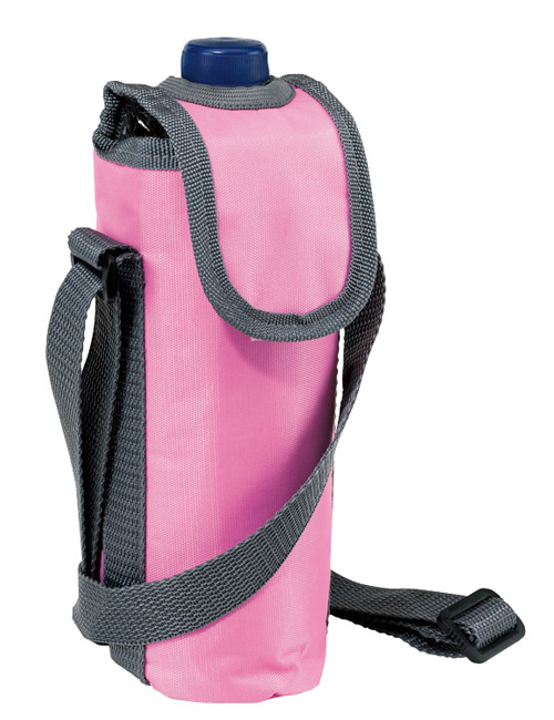 neck strap cool bag pink