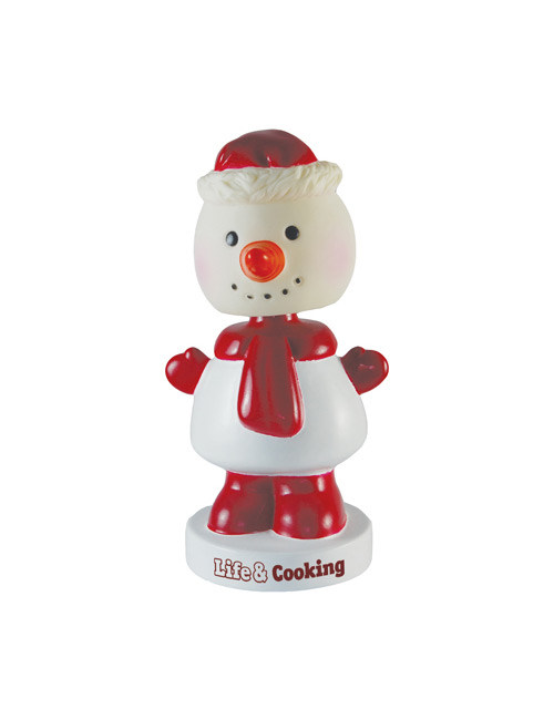 Bobble Head Snowman red-white