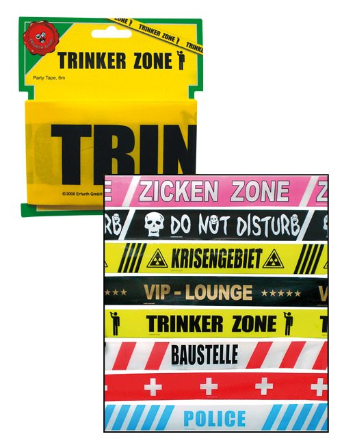 Barrier tape Trinker Zone