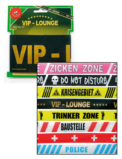Barrier tape VIP-Lounge