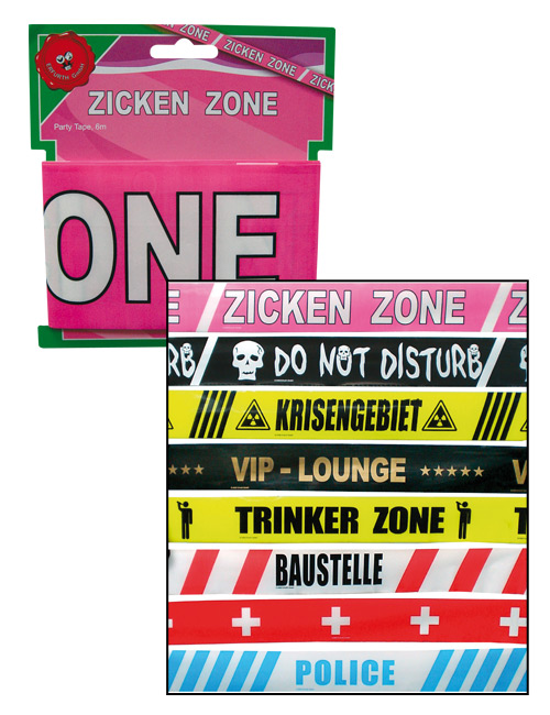 Barrier tape Zickenzone