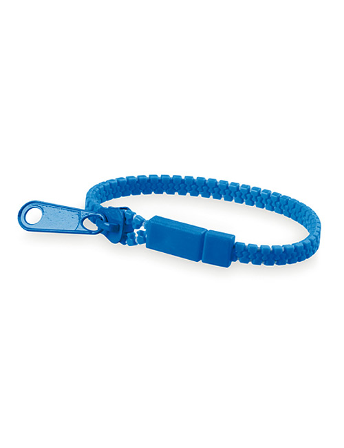 Bracelet Zipper blue
