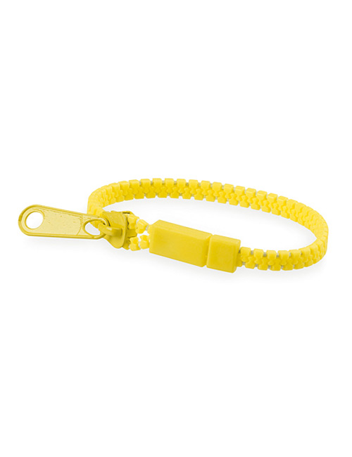 Bracelet Zipper yellow
