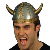 Viking Helmet gold/silver
