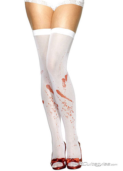 Hold up stockings with blood