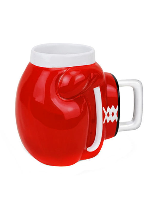 Boxing Glove Coffee Cup Tea Cup red-white