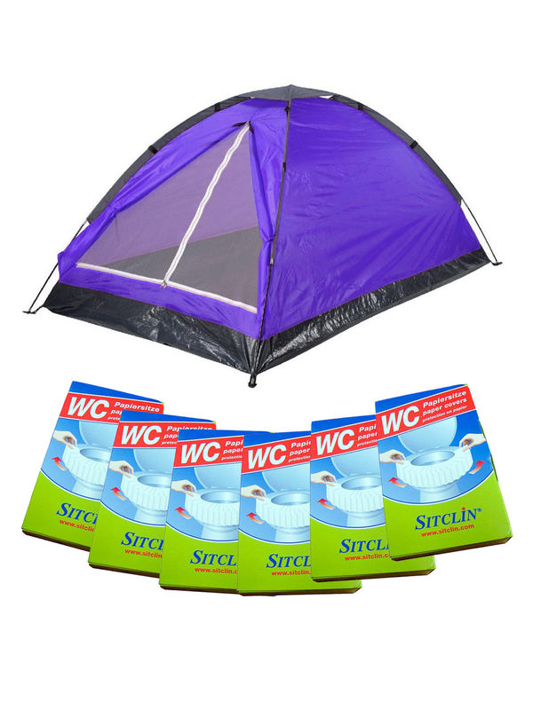 Festival Camping Set purple 13-pieces