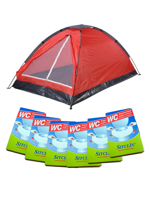 Festival Camping Set red 13-pieces