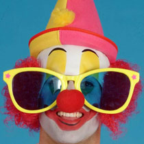 Clown Riesenbrille