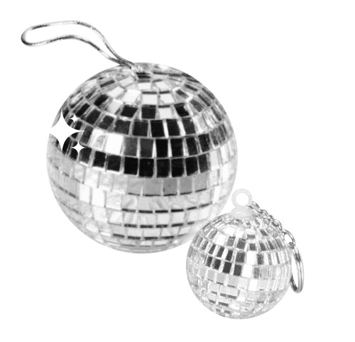 Disco Ball Pendant silver